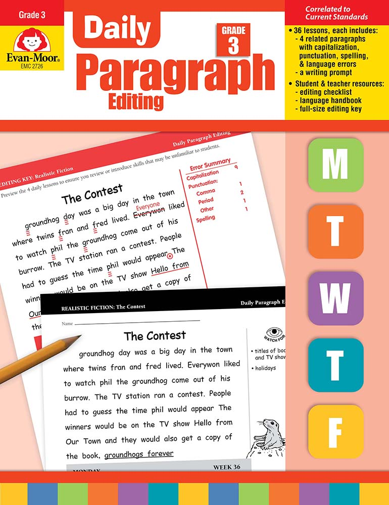Picture of Daily Paragraph Editing, Grade 3 - Teacher's Edition