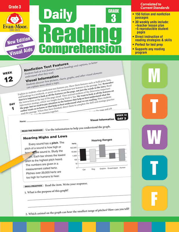Picture of Daily Reading Comprehension, Grade 3 - E-book