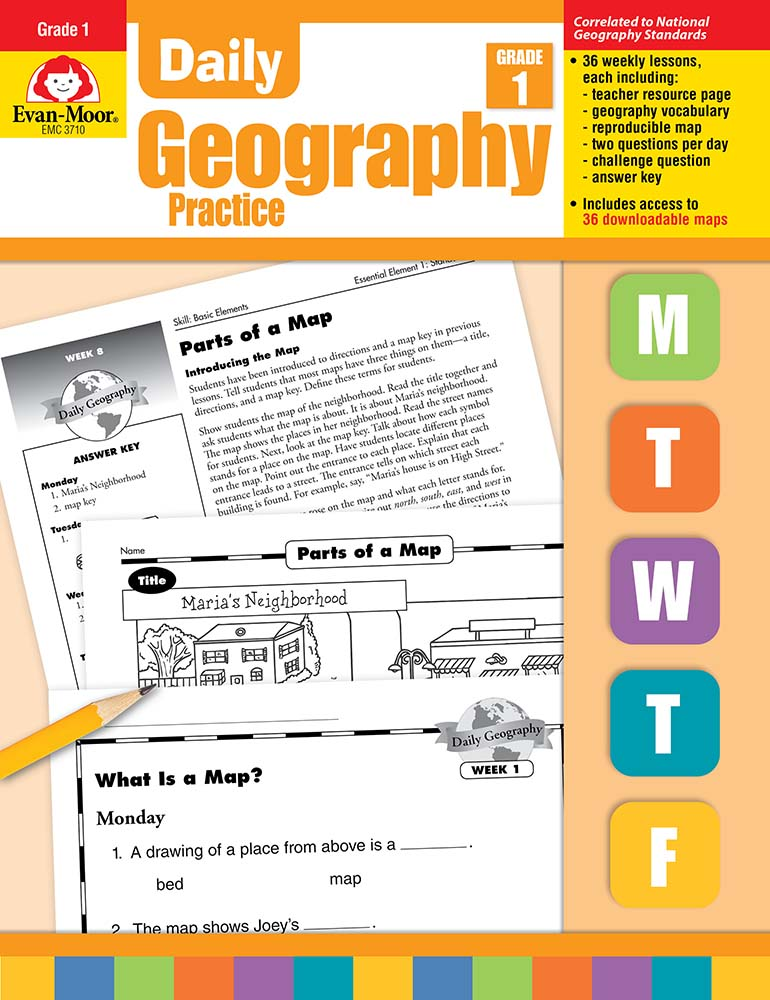 Picture of Daily Geography Practice, Grade 1 - Teacher's Edition