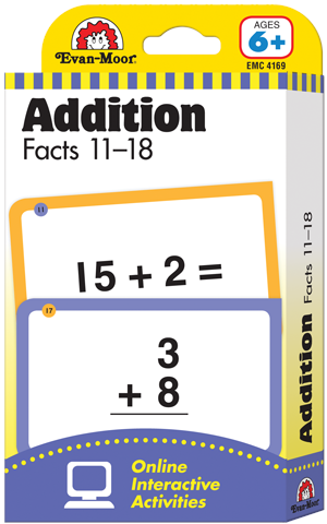 Picture of Learning Line: Addition Facts 11-18, Grade 1+ (Age 6+) - Flashcards
