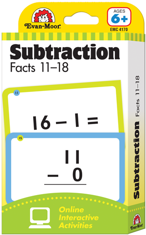 Picture of Learning Line: Subtraction Facts 11-18, Grades 1+ (Ages 6+) - Flashcards
