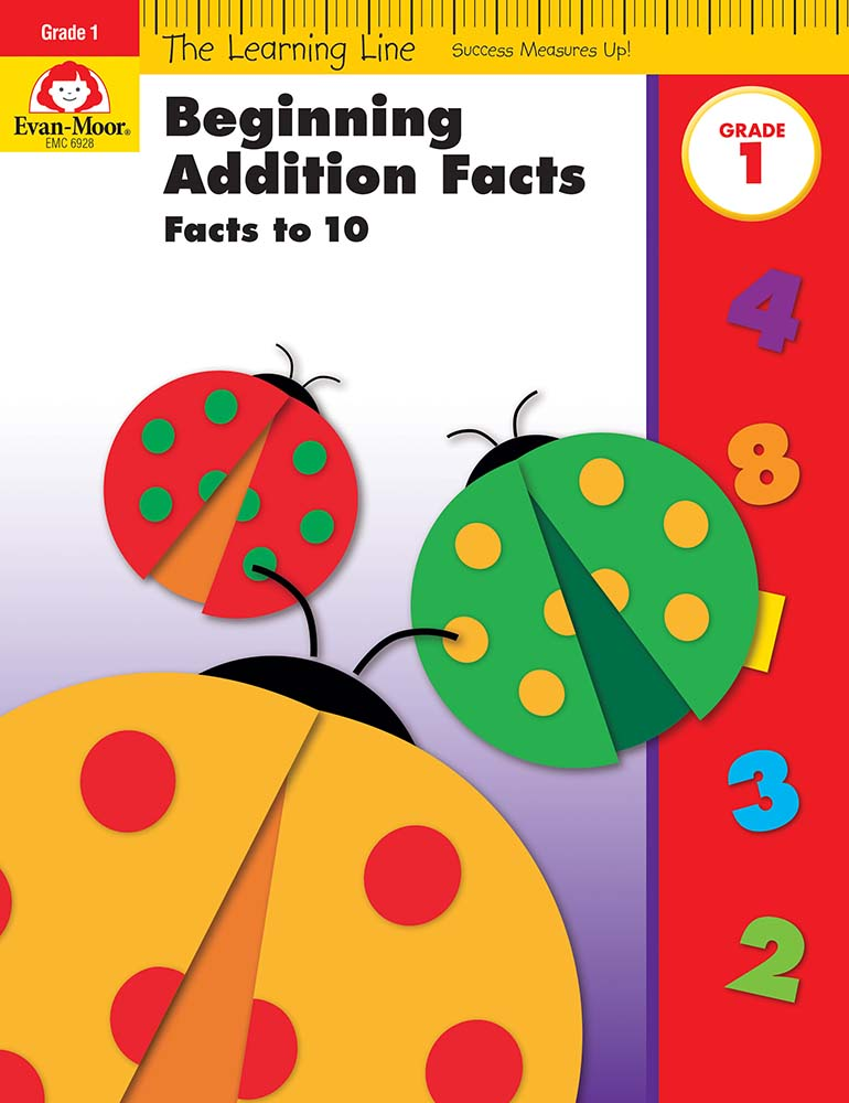 Learning Line: Beginning Addition - Facts to 10, Grade 1