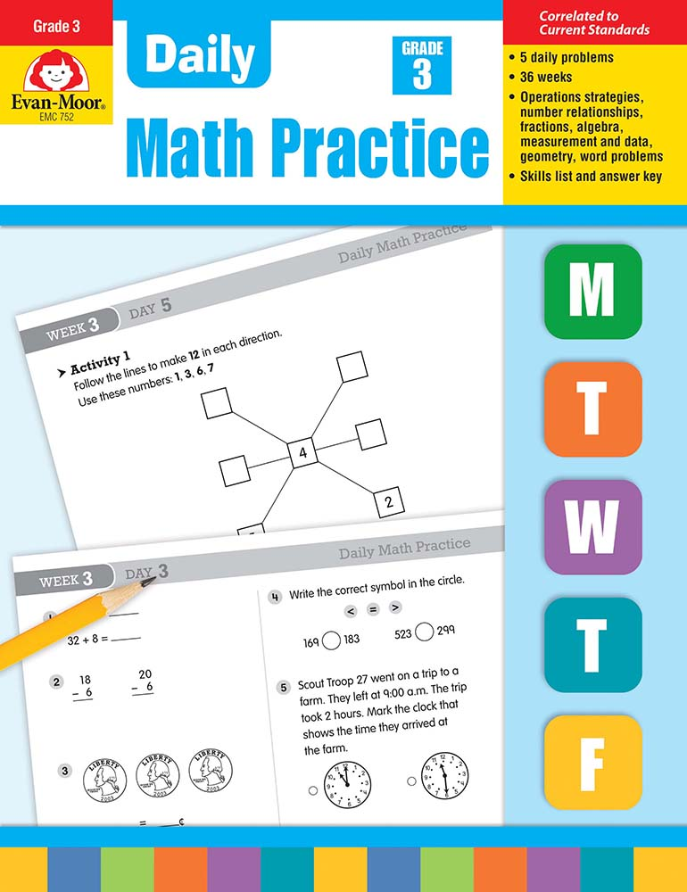 Picture of Daily Common Core Math Practice, Grade 3 - Teacher's Edition E-book