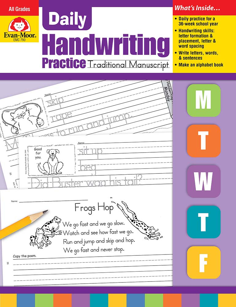 Picture of Daily Handwriting Practice: Traditional Manuscript, Grades K-6 - Teacher's Edition