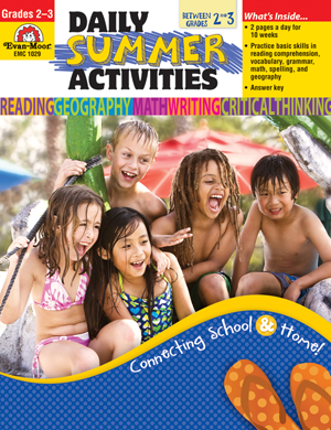 Picture of Daily Summer Activities: Moving from 2nd to 3rd Grade, Grades 2-3 - Activity Book