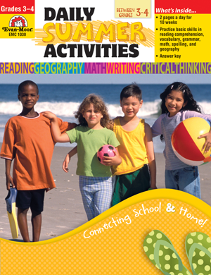 Picture of Daily Summer Activities: Moving from 3rd to 4th Grade, Grades 3-4 - Activity Book