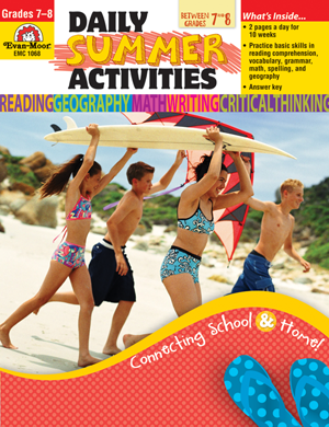 Picture of Daily Summer Activities: Moving from 7th to 8th Grade, Grades 7-8 - Activity Book