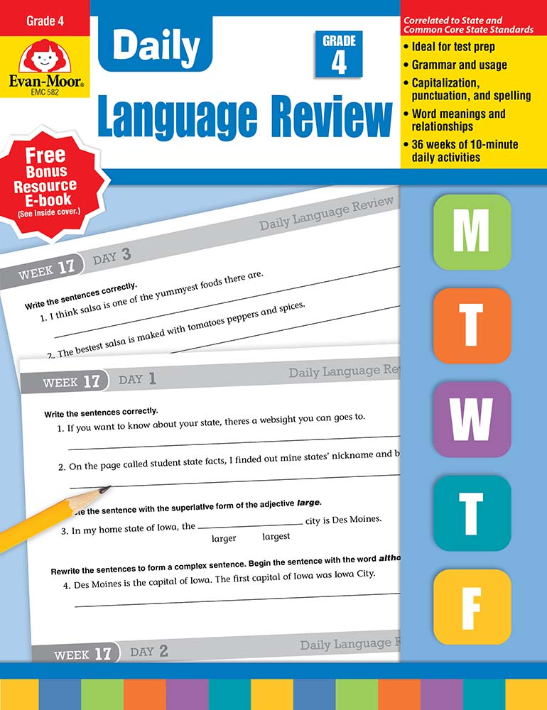 Printables Daily Oral Language 5th Grade Worksheets free daily language review grade 4 worksheets intrepidpath fourth mon core resource by evan moor dol