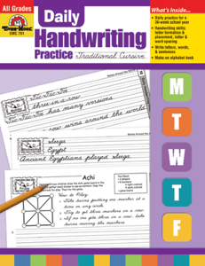 Picture of Daily Handwriting Practice: Traditional Cursive, Grades K-6 - Teacher's Edition, Print