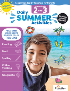 Picture of Daily Summer Activities: Between Grades 2nd Grade and 3rd Grade, Grades 2-3 - Activity Book