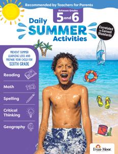 Picture of Daily Summer Activities: Between Grades 5th Grade and 6th Grade, Grades 5-6 - Activity Book