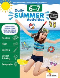 Picture of Daily Summer Activities: Between Grades 6th Grade and 7th Grade, Grades 6-7 - Activity Book