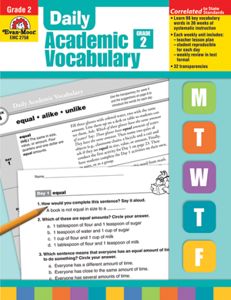 Picture of Daily Academic Vocabulary, Grade 2 - Teacher's Edition, Print