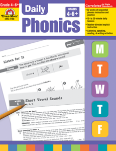 Picture of Daily Phonics, Grades 4-6+ - Teacher's Edition, Print