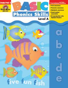 Picture of Basic Phonics Skills, Grades PreK-K (Level A) - Teacher Reproducibles, Print