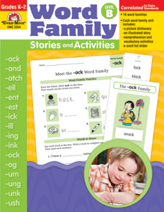 Picture of Word Family Stories and Activities, Grades K-2 (Level B) - Teacher Reproducibles, Print