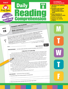 Picture of Daily Reading Comprehension, Grade 8 - Teacher's Edition, Print