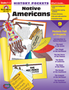 Picture of History Pockets: Native Americans, Grades 1-3 - Teacher Reproducibles, Print