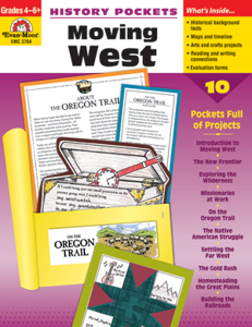 Picture of History Pockets: Moving West, Grades 4-6 - Teacher Reproducibles, Print