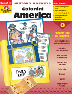 Picture of History Pockets: Colonial America, Grades 4-6 - Teacher Reproducibles, Print