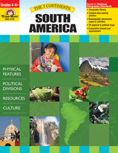 Picture of 7 Continents: South America, Grades 4-6 - Teacher Reproducibles, Print