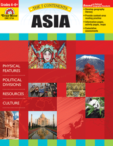Picture of 7 Continents: Asia, Grades 4-6 - Teacher Reproducibles, Print
