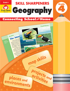 Picture of Skill Sharpeners: Geography, Grade 4 - Activity Book