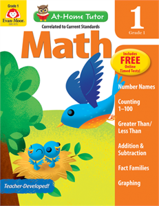 Picture of At-Home Tutor: Math, Grade 1 - Activity Book