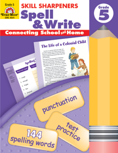 Picture of Skill Sharpeners: Spell & Write, Grade 5 - Activity Book