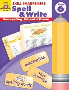Picture of Skill Sharpeners: Spell & Write, Grade 6 - Activity Book