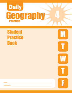 Picture of Daily Geography Practice, Grade 4 - Student Workbook (5-pack)
