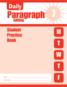 Picture of Daily Paragraph Editing, Grade 7 - Student Workbook (5-pack)
