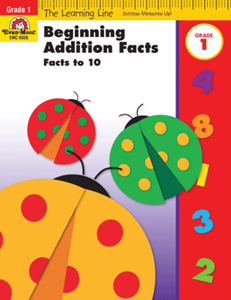Picture of Learning Line: Beginning Addition - Facts to 10, Grade 1 - Activity Book