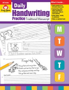 Daily Handwriting Practice: Traditional Manuscript, Grades K-6 - Teacher's Edition, E-book