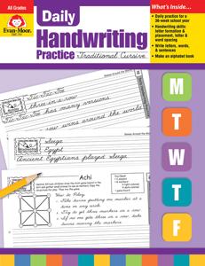 Daily Handwriting Practice: Traditional Cursive, Grades K-6 - Teacher's Edition, E-book