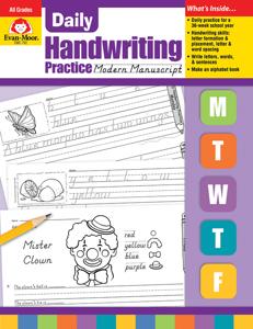 Daily Handwriting Practice: Modern Manuscript, Grades K-6 - Teacher's Edition, E-book