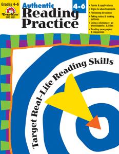 Authentic Reading Practice, Grades 4-6 - Teacher Reproducibles, E-book