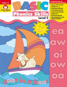 Basic Phonics Skills, Grades 1-2 (Level C)- Teacher Reproducibles, E-book