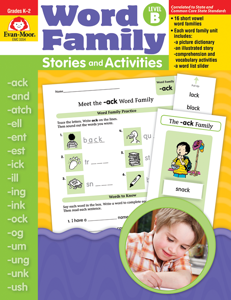Word Family Stories and Activities, Grades K-2 (Level B)- Teacher Reproducibles, E-book