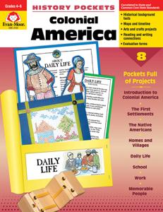 History Pockets: Colonial America, Grades 4-6 - Teacher Reproducibles, E-book
