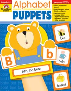Alphabet Puppets, Grades PreK - 1 - Teacher Reproducibles, E-book