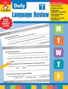 Daily Language Review, Grade 7 - Teacher's Edition, E-book