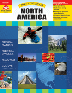 7 Continents: North America, Grades 4-6 - Teacher Reproducibles, E-book