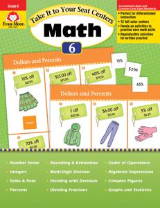 Take It to Your Seat: Math Centers, Grade 6 - Teacher Reproducibles, E-book
