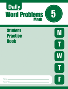 Daily Word Problems, Grade 5 - Student Workbook (5-pack)