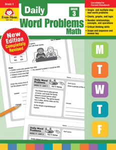 Daily Word Problems, Grade 3 - Teacher's Edition, E-book