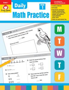 Daily Math Practice, Grade 1- Teacher's Edition, E-book