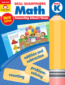 Skill Sharpeners: Math, Grade PreK - Activity Book