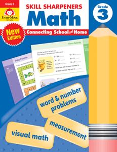 Skill Sharpeners: Math, Grade 3 - Activity Book
