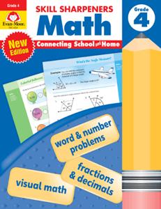 Skill Sharpeners: Math, Grade 4 - Activity Book
